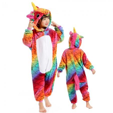 Mermaid Unicorn Onesie Costume Pajama Kids Animal Outfit for Boys & Girls