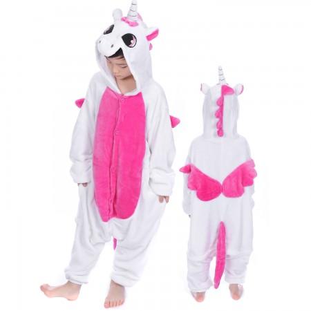 Pink Pegasus Unicorn Onesie Costume Pajama Kids Animal Outfit for Boys & Girls