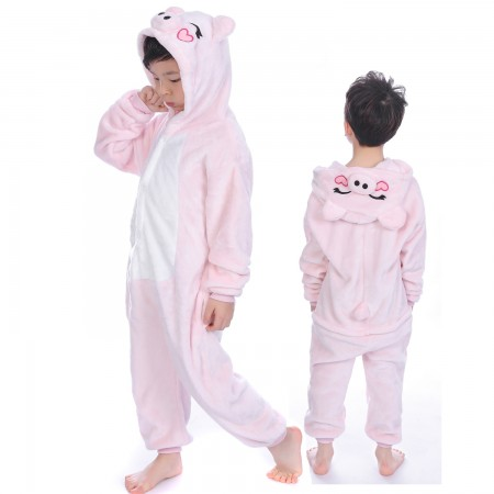 Pink Pig Onesie Costume Pajama Kids Animal Outfit for Boys & Girls