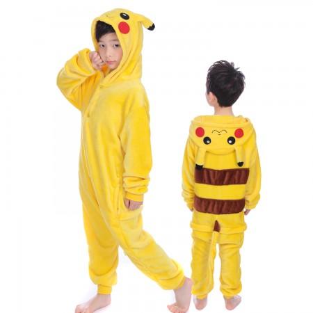 Pokemon Pikachu Onesie Costume Pajama Kids Animal Outfit for Boys & Girls