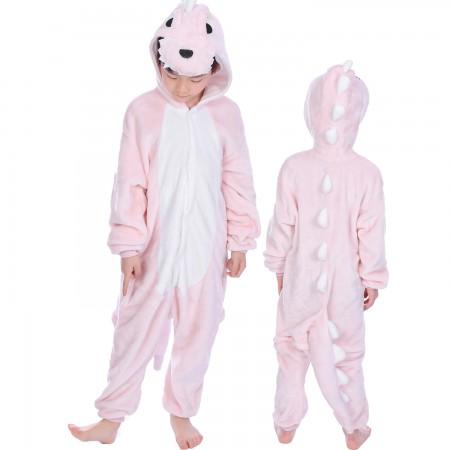 Pink Dinosaur Onesie Costume Pajama Kids Animal Outfit for Boys & Girls