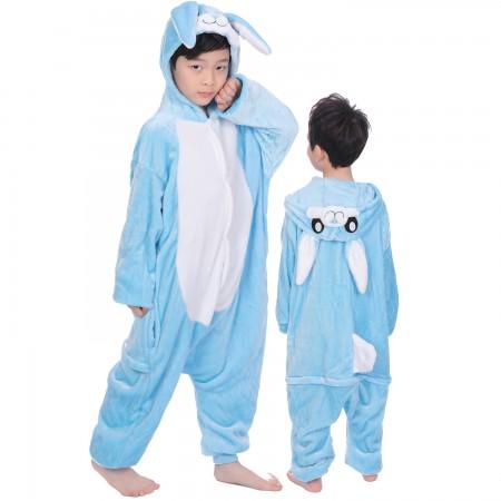 Blue Rabbit Onesie Costume Pajama Kids Animal Outfit for Boys & Girls