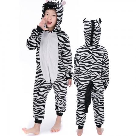 Zebra Onesie Costume Pajama Kids Animal Outfit for Boys & Girls