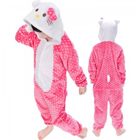 Kitty Cat Onesie Costume Pajama Kids Animal Outfit for Boys & Girls