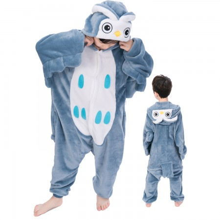 Owl Onesie Costume Pajama Kids Animal Outfit for Boys & Girls