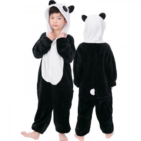 Panda Onesie Costume Pajama Kids Animal Outfit for Boys & Girls