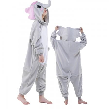 Kids Elephant Costume Onesie Pajama Animal Outfit for Boys & Girls