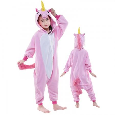 Kids Pink Unicorn Onesie Costume Pajama Animal Outfit for Boys & Girls