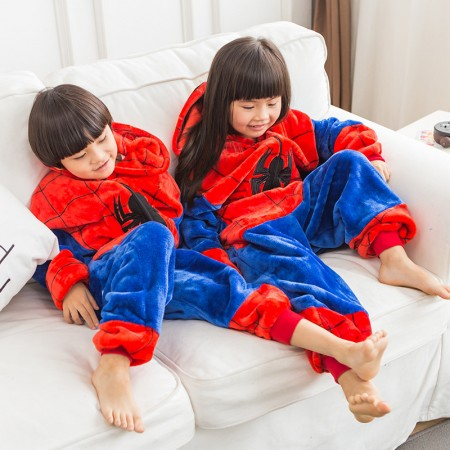 Kids Sipderman Costume Onesie Pajama Animal Outfit for Boys & Girls