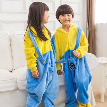 Kids Minions Costume Onesie Pajama Animal Outfit for Boys & Girls