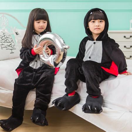 Kids Bat Costume Onesie Pajama Animal Outfit for Boys & Girls