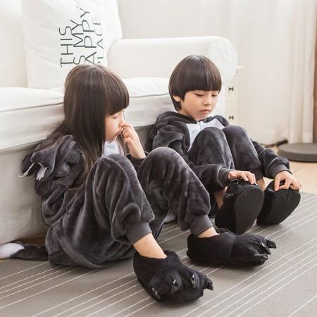 Kids Wolf Costume Onesie Pajama Animal Outfit for Boys & Girls