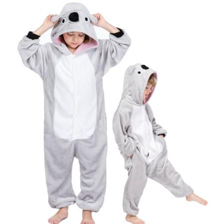 Kids Koala Costume Onesie Pajama Animal Outfit for Boys & Girls