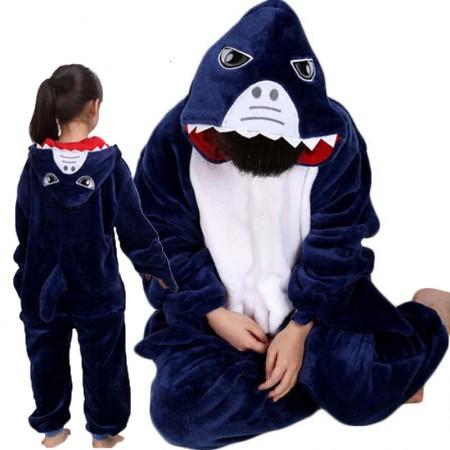 Kids Shark Costume Onesie Pajama Animal Outfit for Boys & Girls