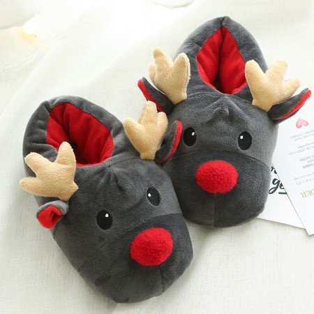 Cute Animal Reindeer Slippers Shoes for Adult