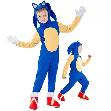 Sonic the Hedgehog costume For Kid Halloween Outfit Cosplay Suit