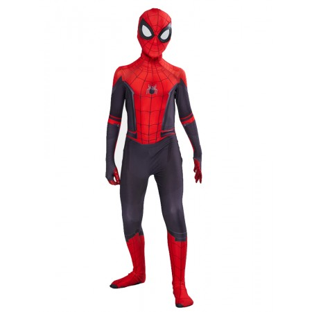 Boy Spiderman Costume Far From Home Spider Man Suit Cosplay Onesie For Kids