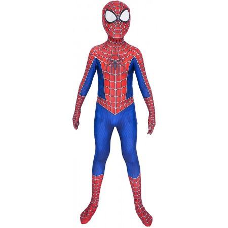 Boy Spiderman Costume Suit Cosplay Onesie For Kids