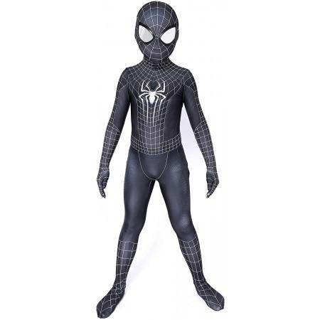 Boy Spiderman Black Suit Venom Spider Costume Cosplay Onesie For Kids