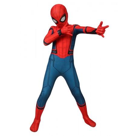 Kid Spider Man Homecoming Suit Boys Spiderman Costume Halloween Onesie
