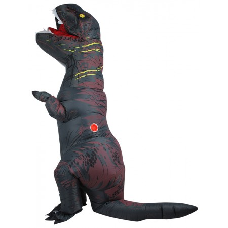 Inflatable Dinosaur Costume Halloween Funny Blow Up T Rex Costumes for Adult & Kids Gray
