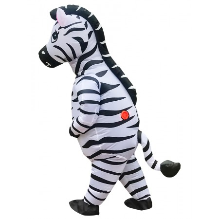 Adult Inflatable Zebra Costume Halloween Funny Blow Up Outfit