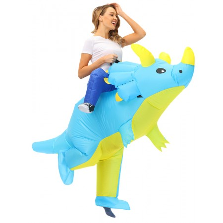 Adult & Kids Inflatable Dinosaur Ride On Costume Halloween Cosplay Party