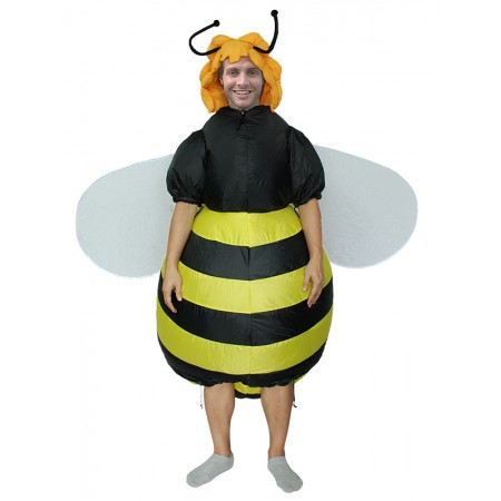 Adult Inflatable Honey Bee Costume Halloween Fancy Dress Party Outfit
