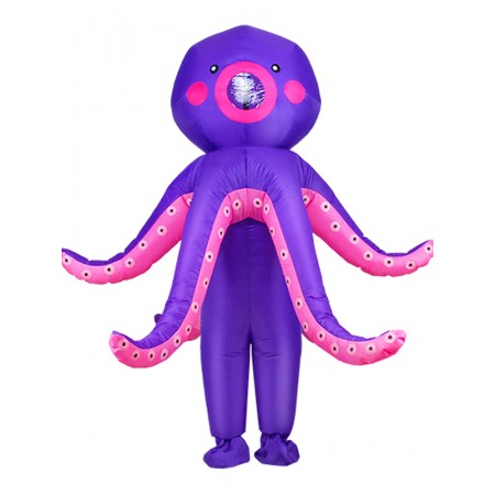 Halloween Inflatable Octopus Costume Blow Up Halloween Fancy Dress for Party