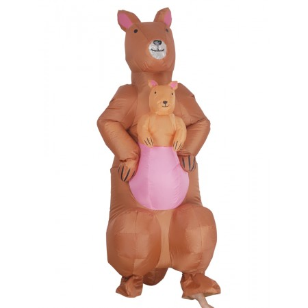 Blow Up Kangaroo Costumes Halloween Inflatable T Rex Dress Outfit For Adult & Kids