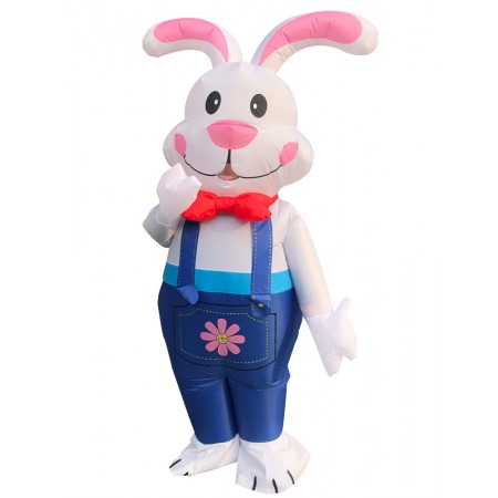 Inflatable Bunny Costume Halloween Blow Up Rabbit Fancy Dress Outfit
