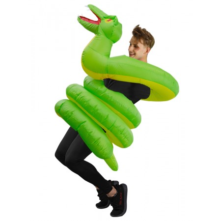 Inflatable Snake Costume Blow Up Halloween Adult Fancy Dress Costumes