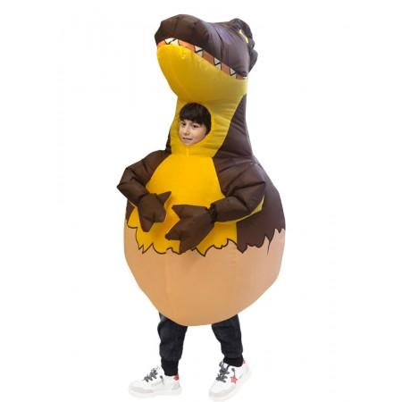 Inflatable Dinosaur Egg Costume Blow Up Halloween Kids Fancy Dress Costumes