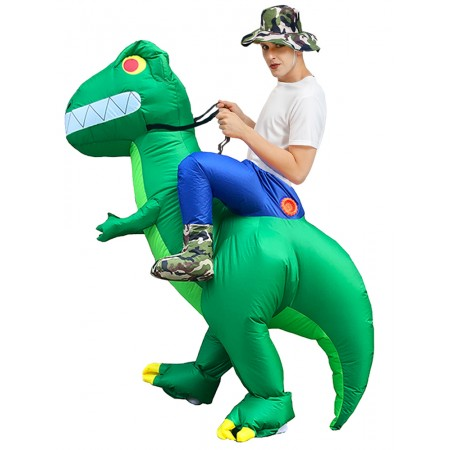 Inflatable Dinosaur Costume Riding T Rex Blow up Deluxe Halloween Party Costumes