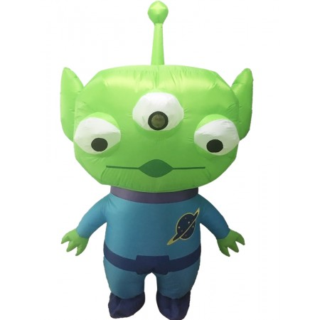 Blow Up Alien Costume Halloween Party Fancy Dress for Adult