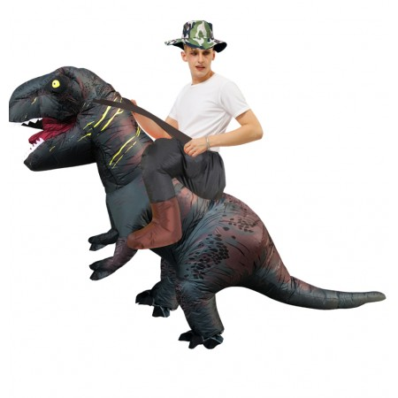 Blow Up Inflatable Dinosaur Costume Riding T Rex Halloween Costumes