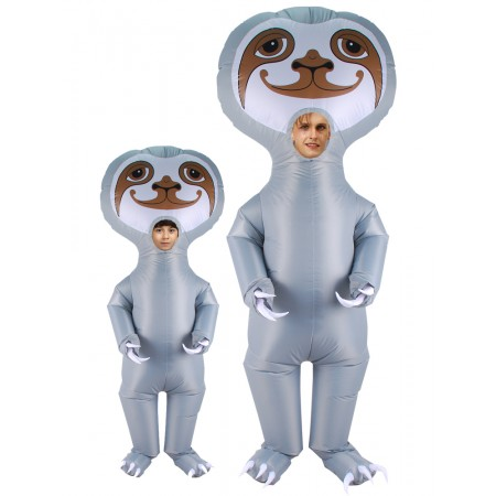 Inflatable Sloth Costume for Adult & Kids Halloween Blow Up Costumes