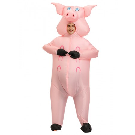Inflatable Pig Costume for Adult Halloween Blow Up Costumes