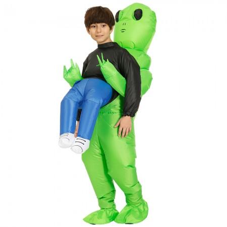 Inflatable Alien Costume Halloween Party Blow up Fancy Dress Kids Costumes