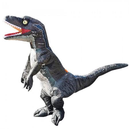 Inflatable Velociraptor Costume Halloween Blow Up Dinosaur Fancy Dress Costumes