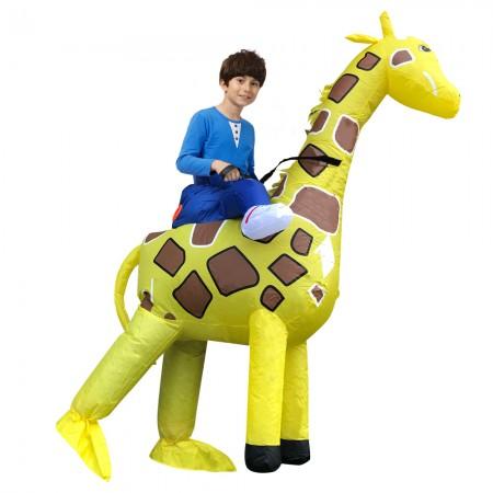 Kid Inflatable Giraffe Costume Halloween Blow Up Ride On Costumes