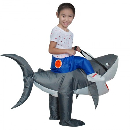 Adult Inflatable Shark Costume Halloween Blow Up Funny Costumes