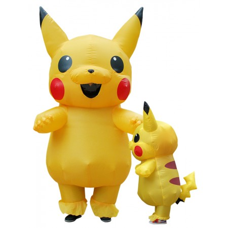 Blow Up Pikachu Costume Halloween Funny Inflatable Costumes For Kid