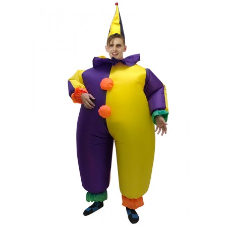 Blow Up Clown Costume Halloween Funny Inflatable Costumes For Adult