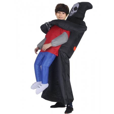 Inflatable Carrying Me Costume Halloween Blow Up Funny Costumes For Kid