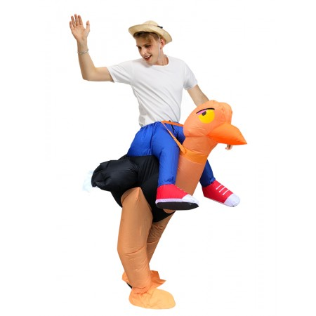 Inflatable Ostrich Costume Halloween Blow Up Funny Costumes For Adult