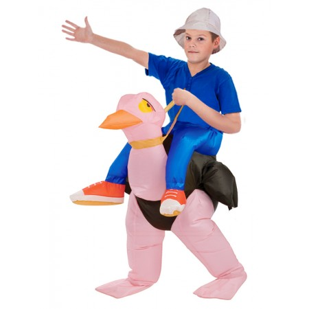 Inflatable Ostrich Costume Halloween Blow Up Funny Costumes For Kid