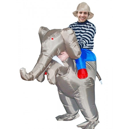 Inflatable Elephant Costume Halloween Blow Up Funny Costumes For Adult