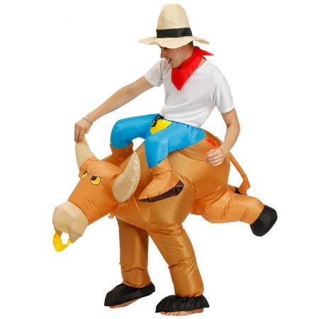 Inflatable Bull Costume Halloween Blow Up Funny Costumes For Adult Kids