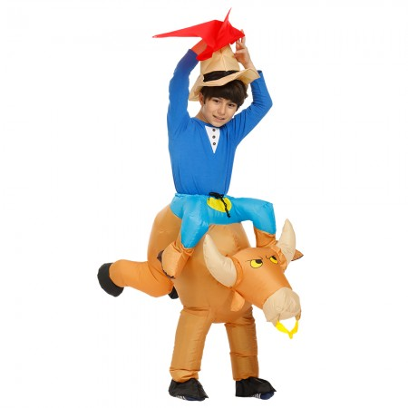 Kids Inflatable Bull Costume Halloween Blow Up Funny Costumes